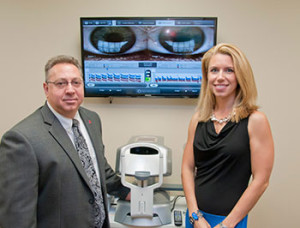 Dr. Whitney Hauser and Dr. Alan Kabat in SCO's new TearWell: Advanced Dry Eye Treatment Center.