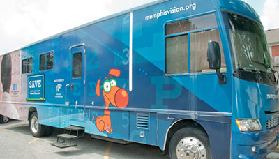 SCO's mobile eye exam unit.