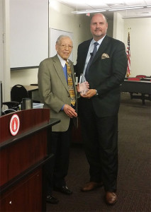 "Dr. Glenn Hammack (right) Founding President, NuPhysicia LLC, was awarded the first Dr. Lester Caplan (left) Honorary Lecture. His presentation was titled ""Telemedicine - Recent and Coming Issues of Technology, Regulation, Ethics, and the Social Contract of Licensed Practice."""