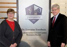 The Dr. Lorraine Voorhees Student Achievement Center Resource Room Dedicated