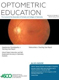 Invite to Apply for Associate Editor, Optometric Education