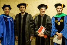 SUNY Optometry Honors Naidoo, Schaeffel with Honorary Degrees During 44th Commencement