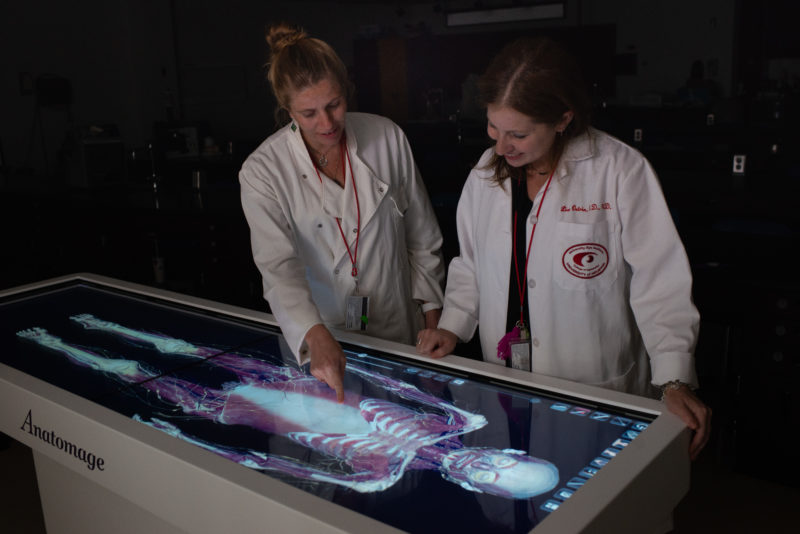 UHCO is one of the First Optometry Institutions in the US to use Anatomage Table